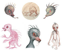 Chupacabra sketches by V-L-A-D-I-M-I-R