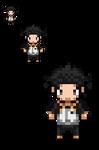 Natsuki Subaru Re:Zero Overworld Sprite by Lucky96u