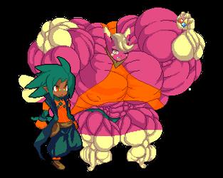 Master and helper by OutlawMoruko