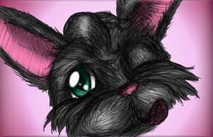 Blacky Up Close by MillyT