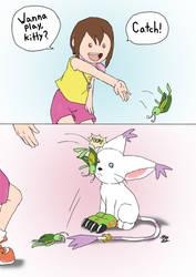 Playing Catch by kokorotoyume