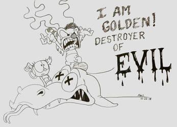 Golden's vanquishment by kutt172