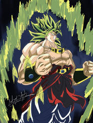 drawing broly legendary dragon ball z by Sohaiblebon