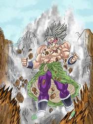 drawing broly ultra instin dragon ball super movie by Sohaiblebon