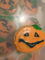 Jackolantern cookies by clayghost34
