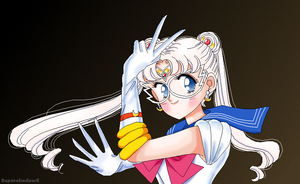 Sailor Moon Early Drawing by SuperShadowX