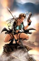 Parks Lara Croft colored by beretta92