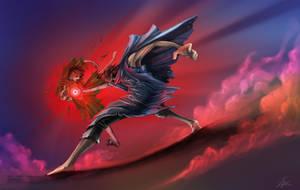 the battle of magician by linkananta