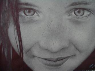 Ballpoint pen - Girl by Milena2011