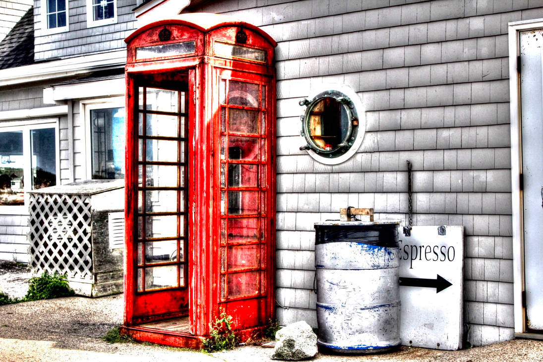 Phone booth HDR by Guardwill