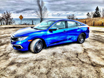 Blue Honda Civic HDR by Guardwill