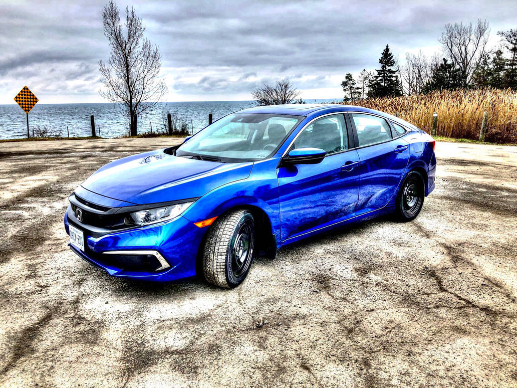 Blue Honda Civic 2019 by Guardwill