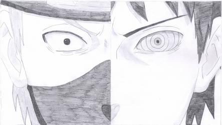 Kakashi/Obito Sketch by SlyBlue08