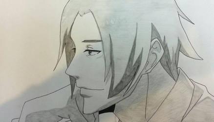 Tsukiyama Shuu Sketch by SlyBlue08