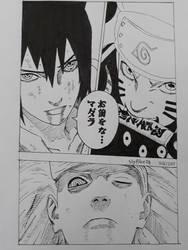 Madara VS Sauske and Naruto Manga Sketch by SlyBlue08