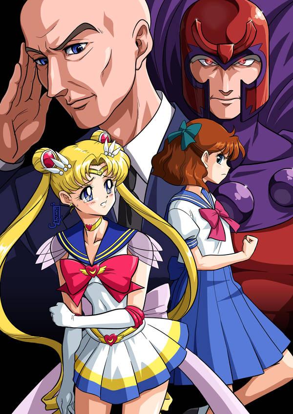 Commission: Sailor Moon X - Lunar Eclipse by Kurumi-Lover