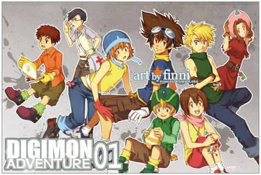 Digimon Adventure 01 by finni
