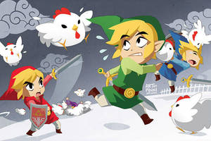 LoZ: ATTACK OF THE CUCCOS by finni