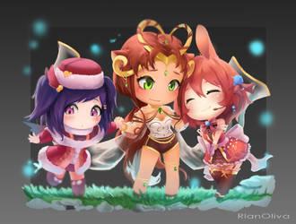 Commission - (Kiki, Anika, Miera) by RlanOliva