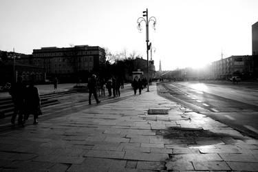 street sunset by viktor-wronek