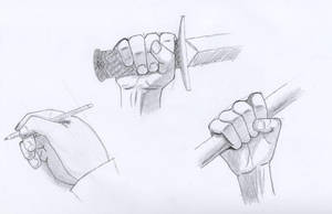 Hands holding something by oswin-drawings