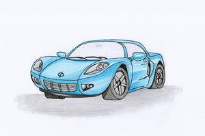 car now with colour by oswin-drawings