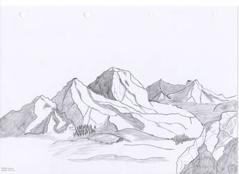 Mountain by oswin-drawings