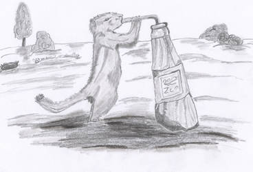 thirsty animal by oswin-drawings