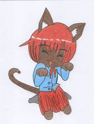 Chibi cat by oswin-drawings
