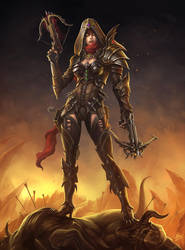 Diablo III - Demon Hunter by danyiart