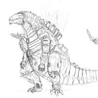 Mecha Godzilla full body by SpaceDragon14