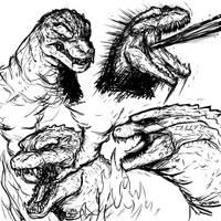 Godzillas by SpaceDragon14