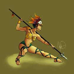 female warrior by M-nav