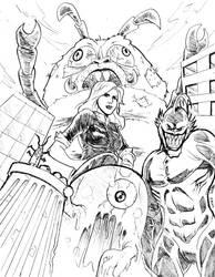 Monsters vs Aliens: Redux by mdjc