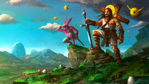 Jebus and E.B. in Easterland Adventure by Vablo
