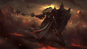Female Crusader 2 - Diablo III by Vablo