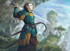High Elf Blademaster by Vablo