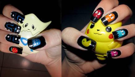 Pac Man nails by Meowzzie