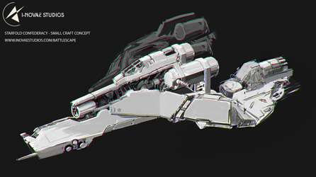 Starfold Confederacy - Small craft concept by Tinnenmannetje