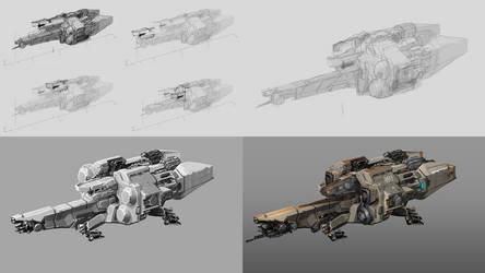 Starfold Corvette Process Collage by Tinnenmannetje