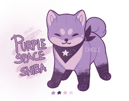 Purple Space Shiba AUCTION CLOSED by Chigle