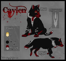 Wz - Caylen character sheet by realWolfshade