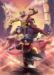 Silkroad Warriors by arcbuncle