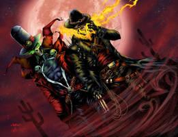 BA Color Battle 02-Gunslinger Spawn/Ghostrider by Casey-Bemis