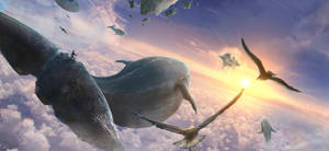 Flying whales by TiagoSilverio
