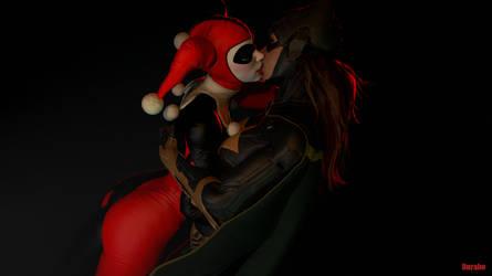 Harley and Batgirl by notsodamndeviant