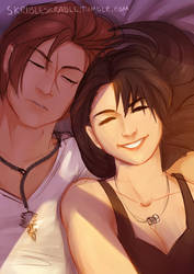 Selfie with Squall by skribleskrable