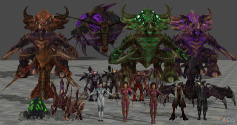 Starcraft Zerg Megapack for XPS! by Hellraiser-89
