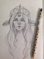Unicorn girl))) by JuShyArt
