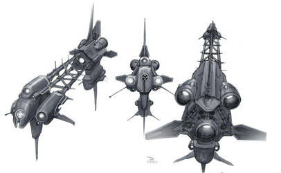 Concept Art Oldies-Spaceships1 by dannlord